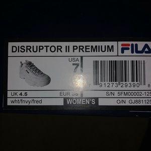 White Fila disruptors 2 premium
